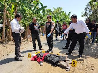 Kapolres Pimpim Olah TKP Pembunuhan Akibat Isu Dukun Santet