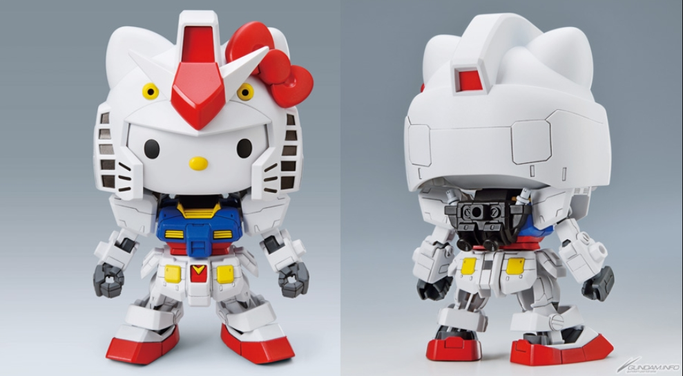 BANDAI SD Gundam EX Standard Collaboration Hello Kitty RX-78-2 Gundam F//S