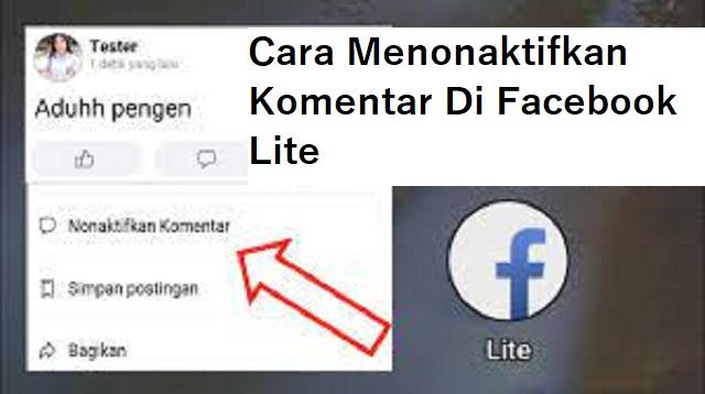 Cara Menonaktifkan Komentar di FB Lite