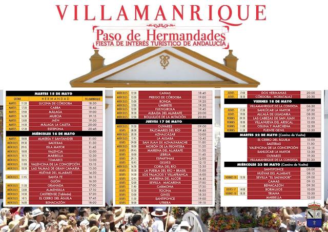 Fiesta de Interés Turistico de Andalucía. Villamanrque de la Condesa