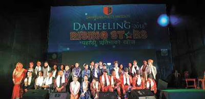 Rising Star contestant at the Capital Hall in Darjeeling