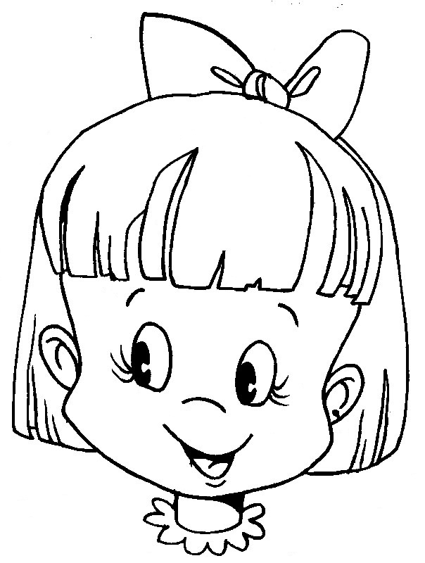 Picture miscellaneous coloring sheets faces of human for Coloring pages of girls faces