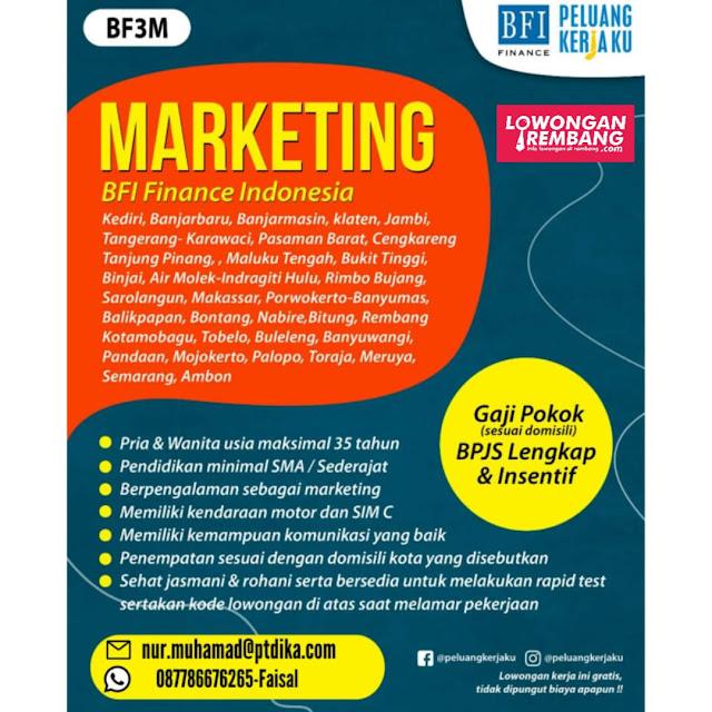 Lowongan Kerja Marketing BFI Finance Rembang