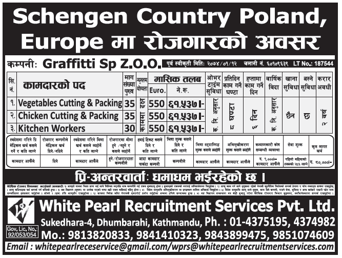 Jobs in Poland for Nepali, Salary Rs 61,537