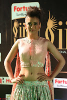 Akshara Haasan in Peachy Crop Top Choli Skirt at IIFA Utsavam Awards 64.JPG