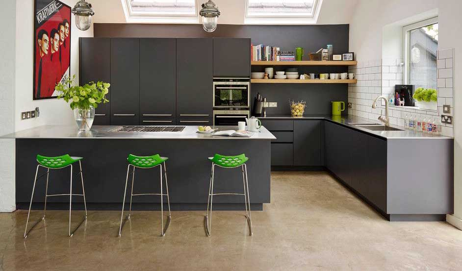 Color Schemes Kitchens With Gray Cabinet 30 Ways To Make Gray Kitchen Cabinets - Design Ideas For