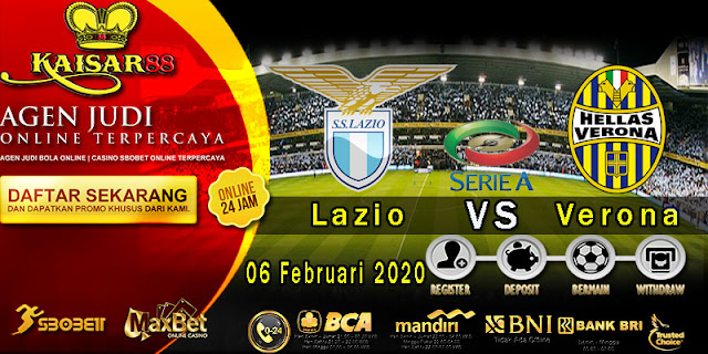 Prediksi Bola Terpercaya Liga Italia Lazio vs Hellas Verona 06 Februari 2020