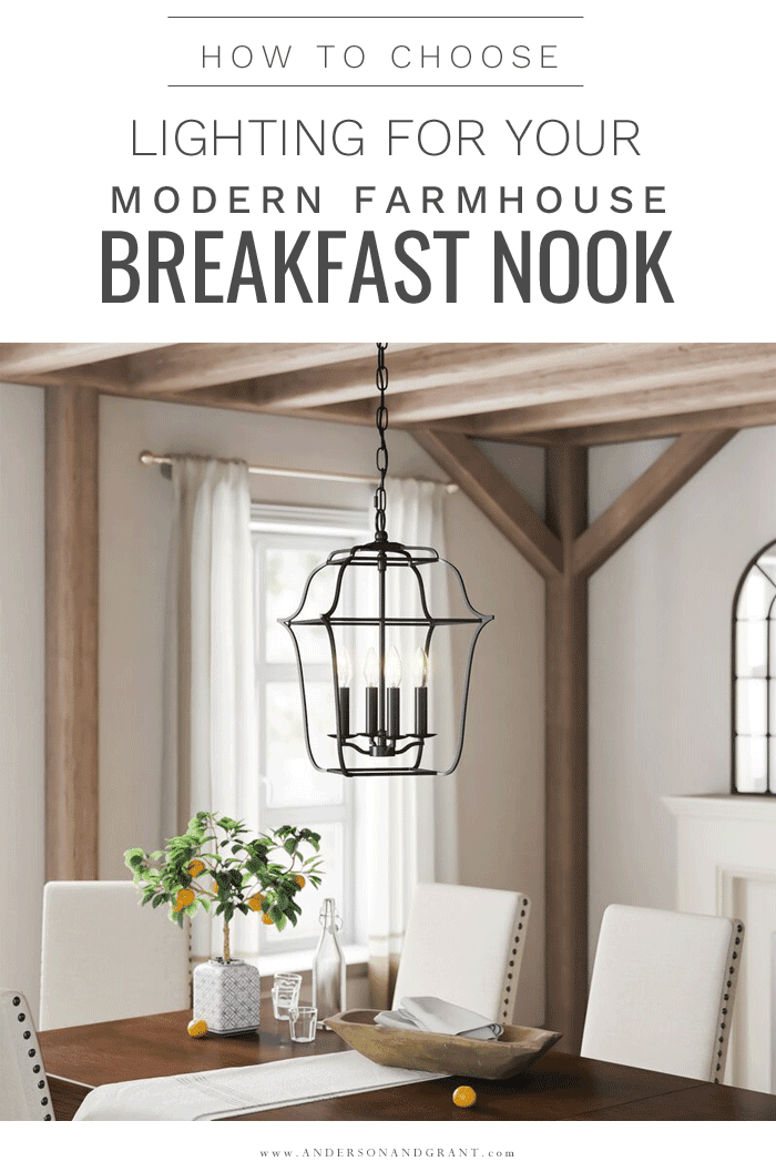 How to choose breakfast nook light