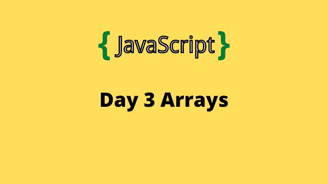 HackerRank Day 3: Arrays 10 days of javascript solution