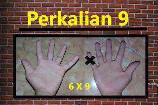 perkalian 9 dengan jari tangan