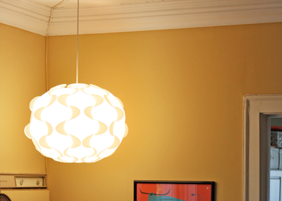 A new lamp for our weird corner how about orange - Lights to hang in room ...
