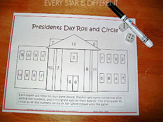 Presidents Day Roll and Circle