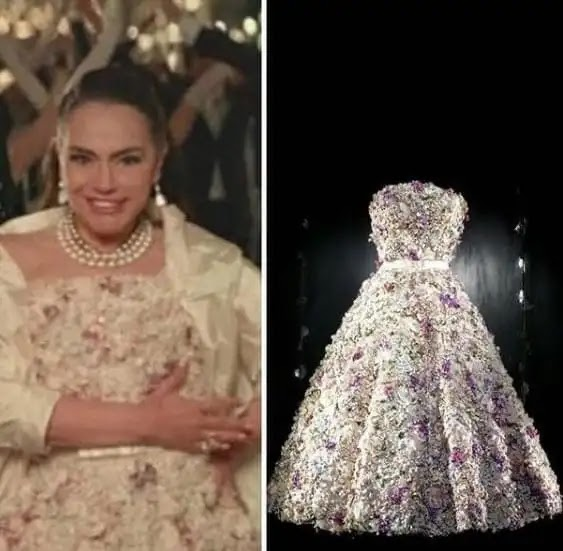 In pictures .. Sherihan's looks with these two dresses are the work of international fashion designer Zuhair Murad