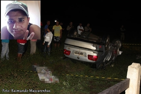 COITÉ: Motorista morre após perder controle de carro e ser projetado para fora após vários capotamentos