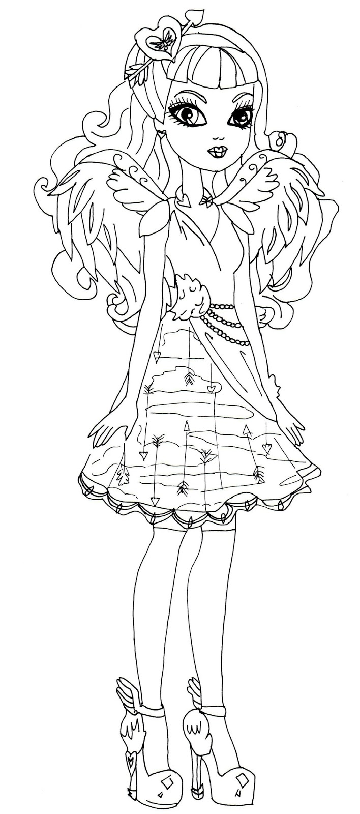 Free Ever After High Ca Cupid Coloring Pages