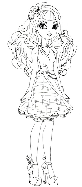 Free Printable Ever After High Coloring Pages: C.A Cupid
