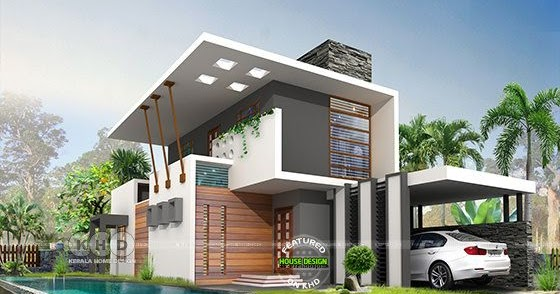 2068 Square Feet 3 Bedroom Contemporary House Kerala Home Design And Floor Plans