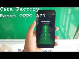 Cara Factory Reset OPPO A71 6