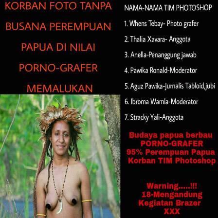 "Perempuan Papua Waspada dengan Tim #Papuansphoto Berkedok ""Pornografer"""