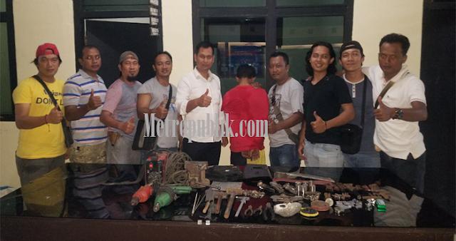 Rakit Senpi Ilegal, Warga Kecamatan Jabung Di tangkap Polres Lamtim