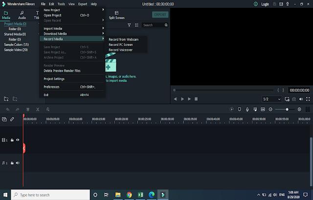 Cara merekam video dari laptop dengan filmora