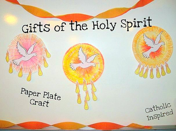 Gifts Of The Holy Spirit Paper Plate Craft Spanish Too Catholic Inspired