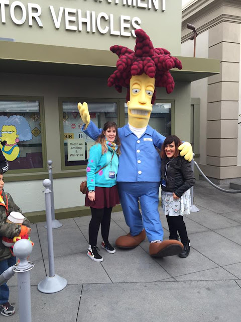 décors The Simpsons Universal Studios Hollywood