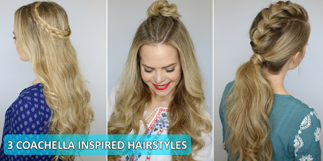 3 Coachella Inspired Hairstyle, Full Tutorial With Instructions!