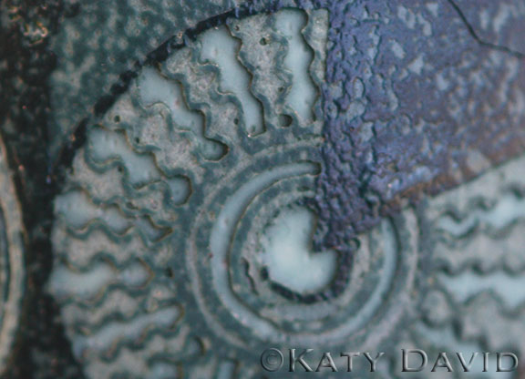 "©Katy David ""Altitude"" Acid etched emu eggshell"