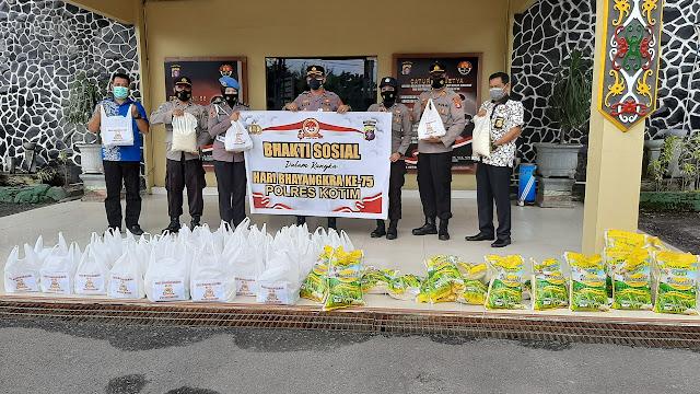 Bhakti Sosial Hari Bhayangkara 75 Polres Kotim