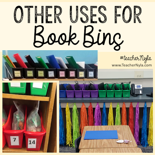 What can you use book bins for