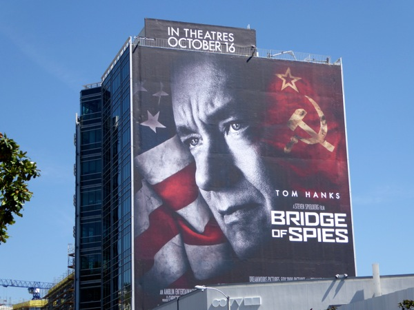 Giant Tom Hanks Bridge of Spies movie billboard