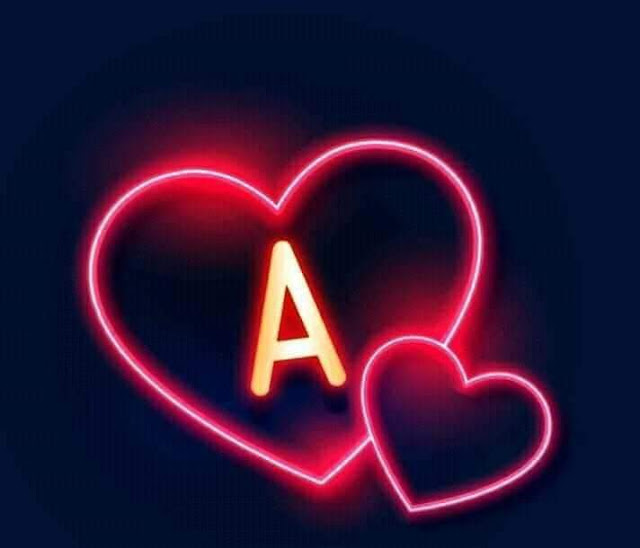 Red Glowing Heart A to Z Complete Alphabet Dpz for Girlz