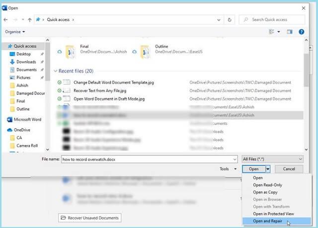 Cara Memperbaiki File Word Yang Corrupt