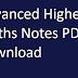 Advanced Higher Math Handwritten Notes PDF Download
