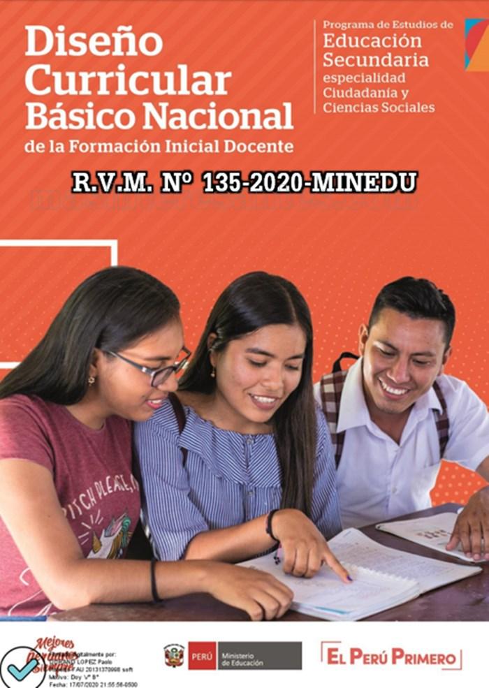 Diseño Curricular Básico Nacional de la Formación Inicial Docente 2020