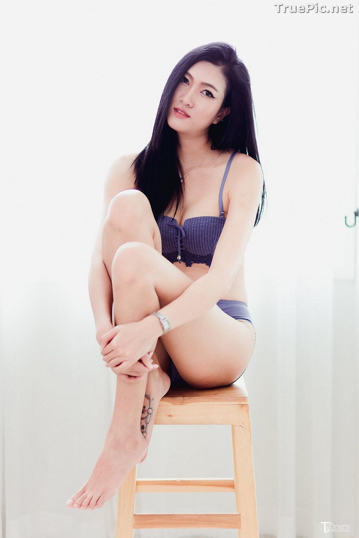 Image Thailand Model - Sawinee Boonbunlu - Sexy Blue Purple Lingerie - TruePic.net - Picture-2