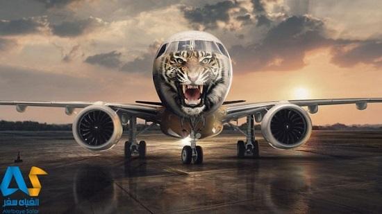 هواپیمای جدید شرکت embraer  با شکل ببر