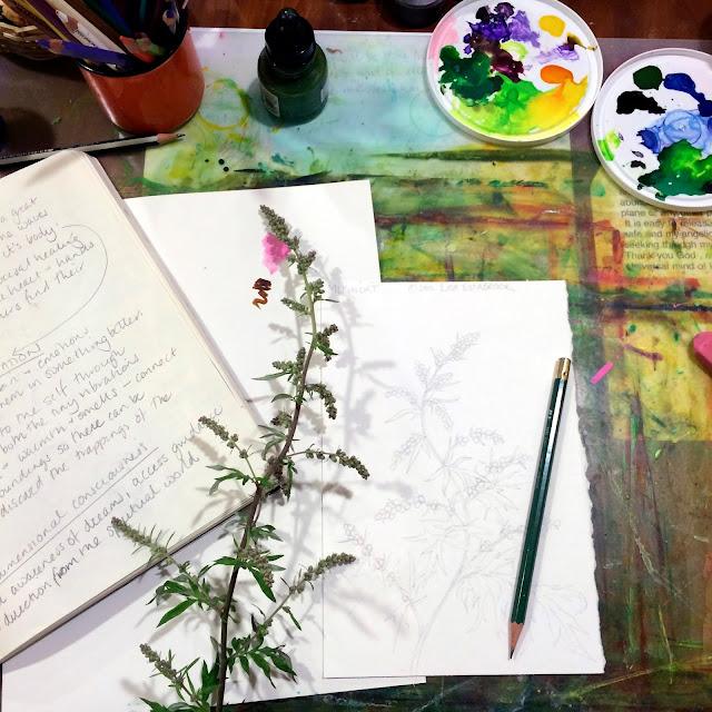 Sketches, Sketchbook, Work in Progress, Studio, Artist Studio, Workspace, Artist, Gardener, Lisa Estabrook, Artist Interview, My Giant Strawberry