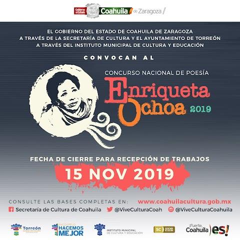 NOTICIAS Concurso Nacional de Poesía Enriqueta Ochoa, 2019 | Redacción Bitácora de vuelos