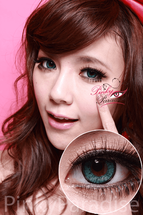 vassen dolly plus green circle lenses (colored contacts)