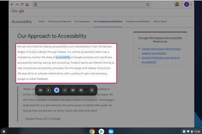 Chromebook Accessibility Features- New and Recent Updates for Teachers and Students