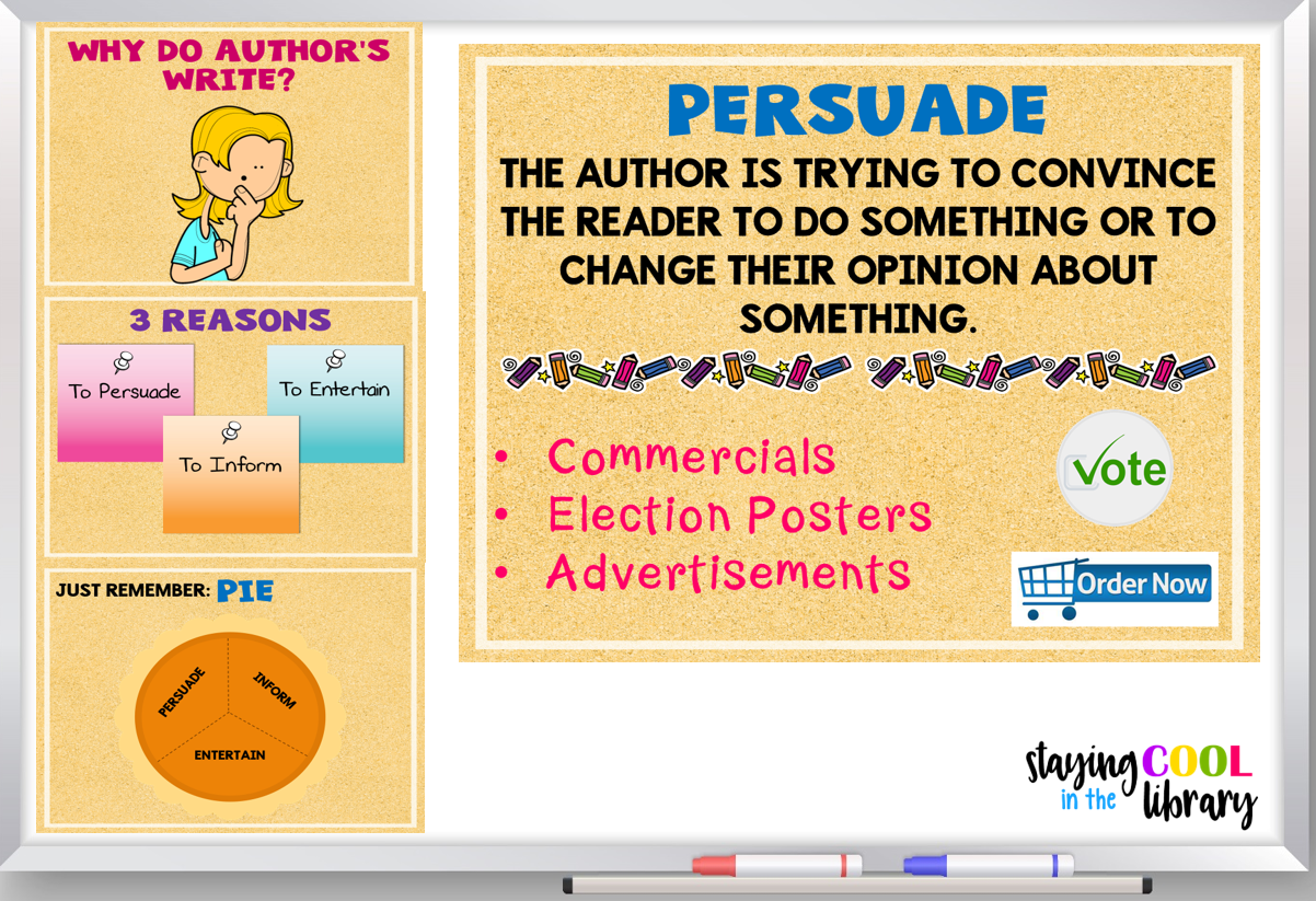 Digital And Print Activities To Teach Author S Purpose