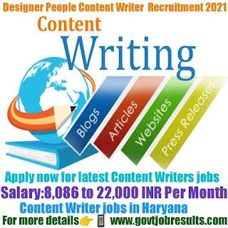 Designer People Content Writer Recruitment 2021-22