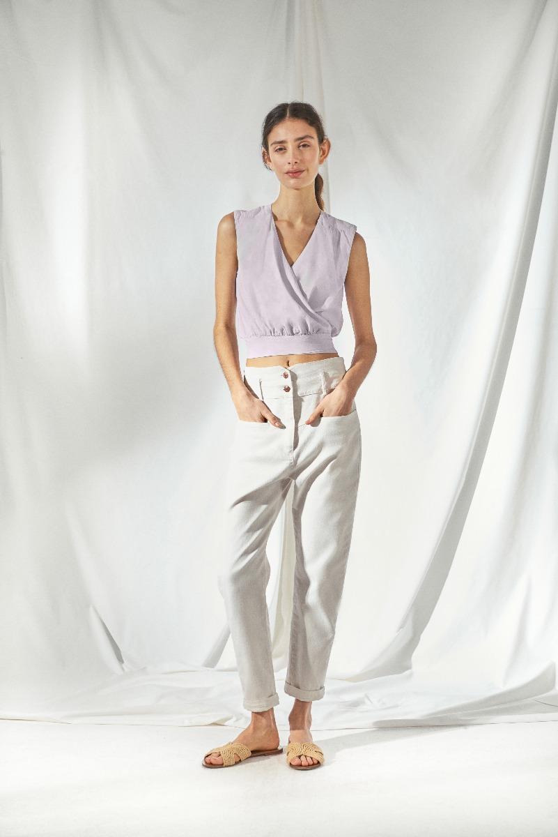 musculosas cruzadas moda verano 2021 mujer