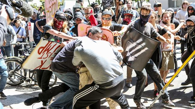 California anti-racism rally turns violent after attack on US President Donald Trump supporters