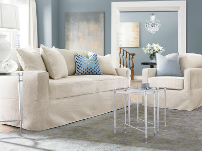 Sure Fit Slipcovers Winter Whites