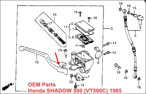 Honda Motorcycle Master Cylinder Replacement