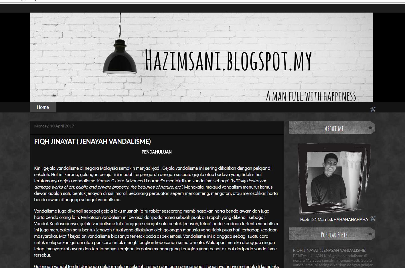 Hazim Blog