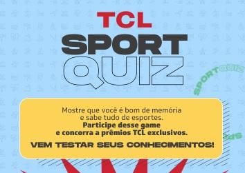 Cadastrar Sport Quiz TCL 2021 Prêmios Exclusivos